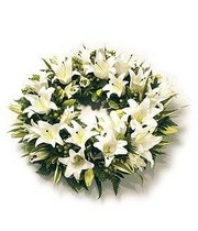 White Lily Wreath.